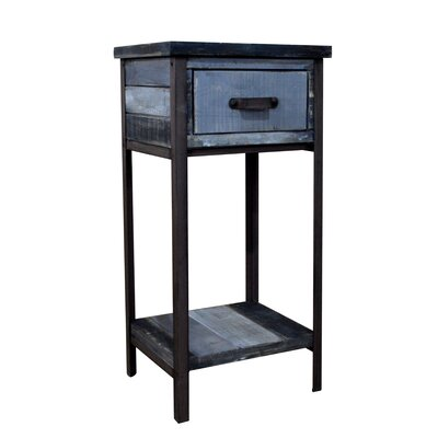 Clayera End Table Finish: Blue