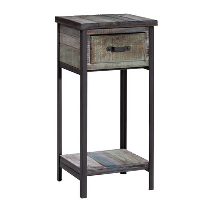 Clayera End Table With Storage� Color: Blue