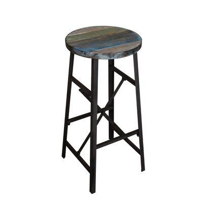 Clayera 28.5 Bar Stool Finish: Blue