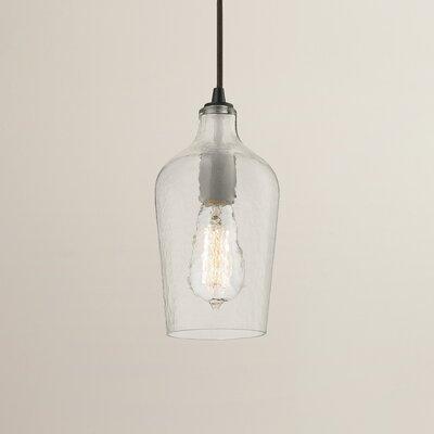 Rancho Mirage 1-Light Mini Pendant Shade Color: Clear