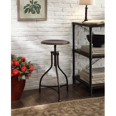 Elgin Adjustable Height Swivel Bar Stool Finish: Antique Copper