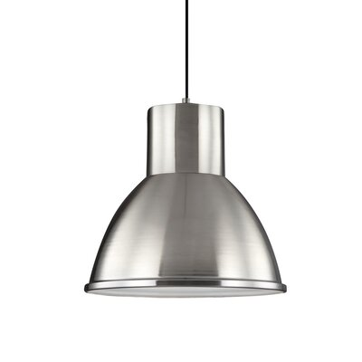 Cardwell 1-Light Mini Pendant Finish: Brushed Nickel, Bulb Type: 100W A19 Medium Bulb