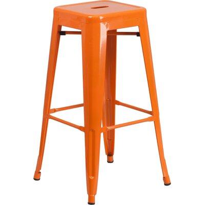 Barchetta 30 Bar Stool Finish: Glossy Orange