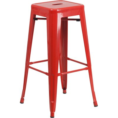 Barchetta 30 inch Bar Stool Finish: Glossy Red