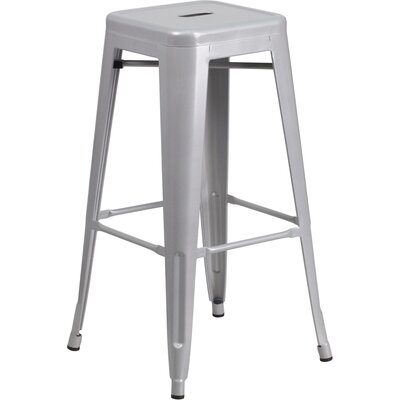 Barchetta 30 Bar Stool Finish: Glossy Silver