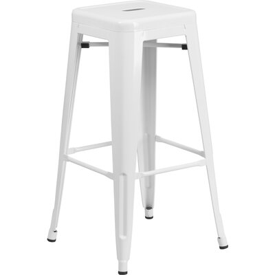 Barchetta 30 Bar Stool Finish: Glossy White