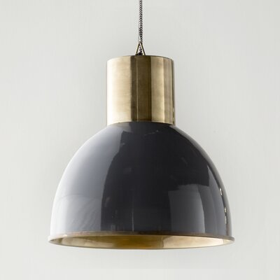 Arturo 1-Light Bowl Pendant