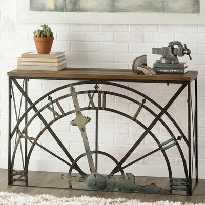 Amur Half-Clock Console Table