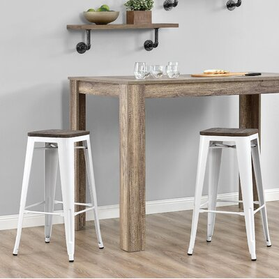 Fortuna 30 Bar Stool Finish: White