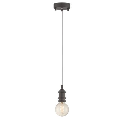 Williston Forge Ady 1-Light Mini Pendant Base finish: Aged Copper