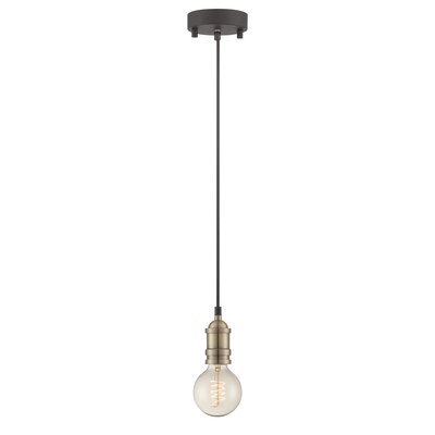 Ady 1-Light Mini Pendant Base finish: Antique Brass
