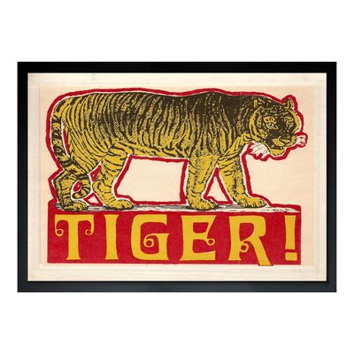 Indian Tiger Framed Painting Print Size: 16