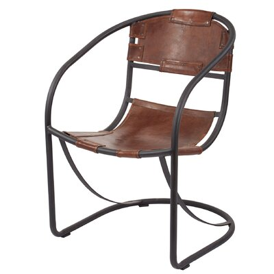 Arona Round Back Leather Lounge Chair