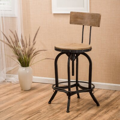 Oria Adjustable Height Swivel Bar Stool