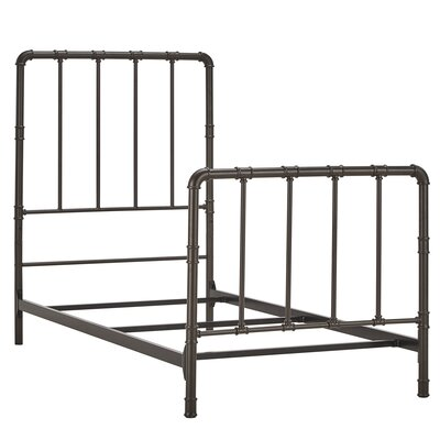 South San Francisco Panel Bed Size: Twin, Color: Dark Bronze