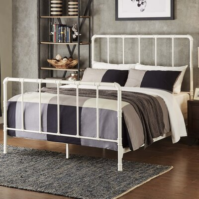 South San Francisco Panel Bed Size: Twin, Color: Antique White