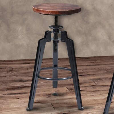 Cosmia Adjustable Height Swivel Bar Stool