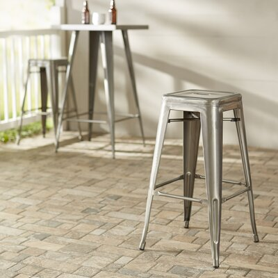 East Palo Alto 29.3 Bar Stool Finish: Gunmetal