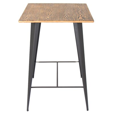 Claremont Pub Table Finish: Grey / Brown