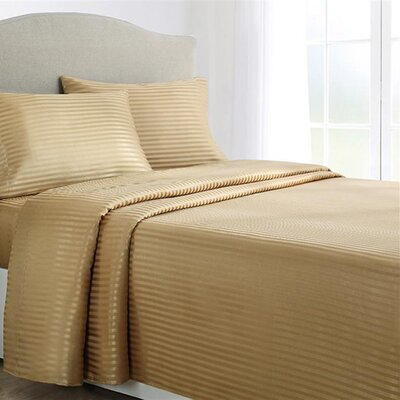 Allenton 4 Piece Sheet Set Color: Charcoal, Size: Queen