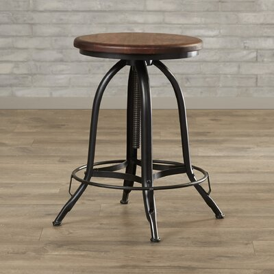Nevada Adjustable Height Swivel Bar Stool Seat Color: Chestnut