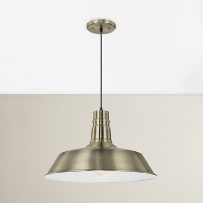 Ilgaz 1-Light Mini Pendant Finish: Brass