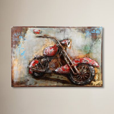 17 Stories Modern Motorcycle Mania Wall Decor