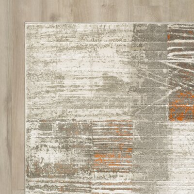 Chartwell Gray Area Rug Rug Size: Rectangle 76 x 106