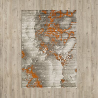 Chartwell Light Gray/Burnt Orange Area Rug Rug Size: Rectangle 22 x 3