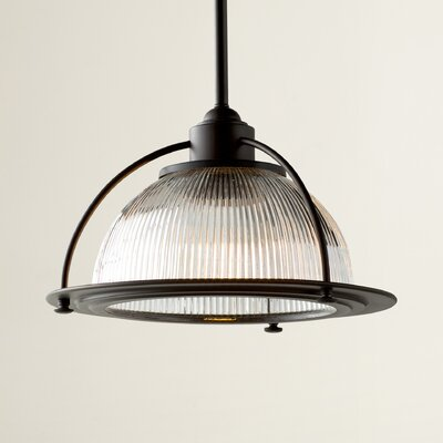 Brickford 1-Light Bowl Pendant Finish: Burnished Bronze