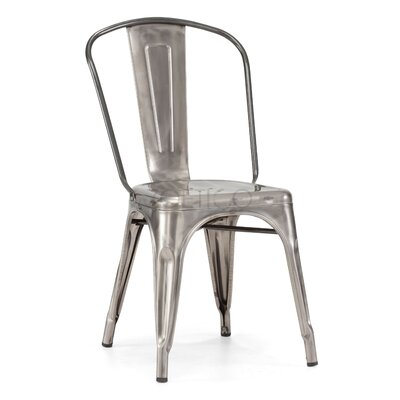 Sheree Silver Metal Side Chair (Set of 2)