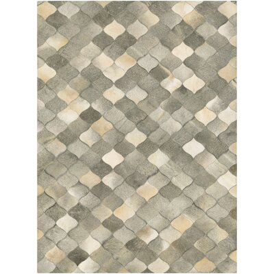 Willis Hand-Woven Ivory/Gray Area Rug Rug Size: 36 x 66