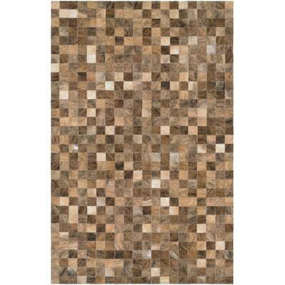 Willis Hand-Woven Rectangle Brown Area Rug Rug Size: Rectangle 94 x 134