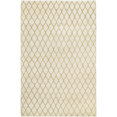 Haymarket Hand-Knotted Tan/Camel Area Rug Rug Size: Rectangle 35 x 55