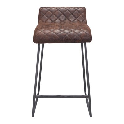 Leduc 26.4 Bar Stool Upholstery: Vintage Brown