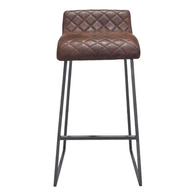 Fien 30.3 Bar Stool Upholstery: Vintage Brown