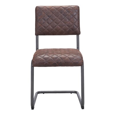 Fien Side Chair Upholstery: Vintage Brown