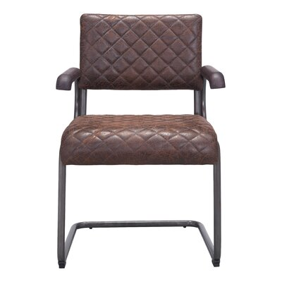Leduc Arm Chair Upholstery: Vintage Brown