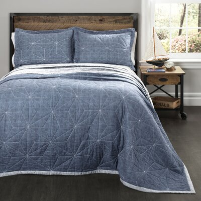 Essex 3 Piece Reversible Quilt Set Size: King