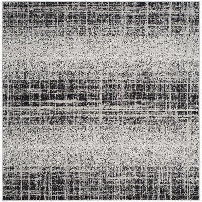 Costa Mesa Silver/Black Area Rug Rug Size: Square 6
