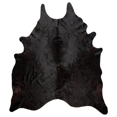 Caitlyn Natural Cowhide Area Rug Rug Size: 67 x 75