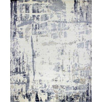 Kaylee Handmade Ivory/Grey Area Rug Rug Size: 9 x 12
