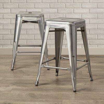 East Palo Alto 25 Bar Stool Frame Finish: Gunmetal