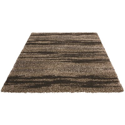 Katlin Casablanca Rose Brown/Beige Area Rug Rug Size: 53 x 75