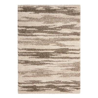 Abbey Oyster/Taupe Area Rug Rug Size: 53 x 75