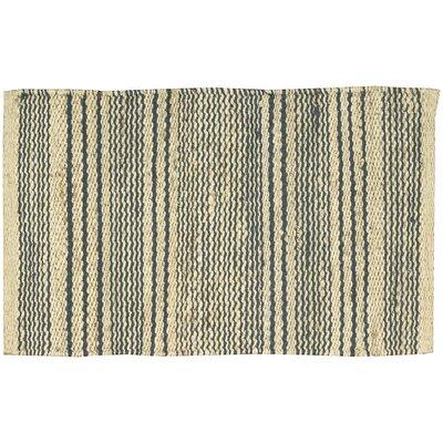 Abbotsford Cream/Navy Area Rug Rug Size: 18 x 28