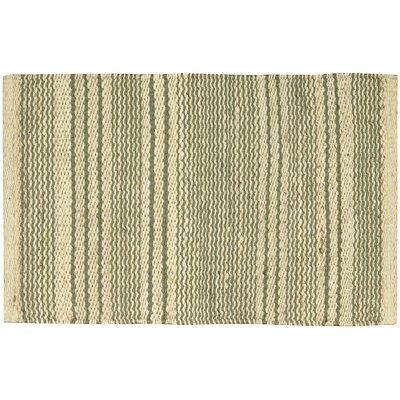 Albury Green/Cream Area Rug Rug Size: 18 x 28