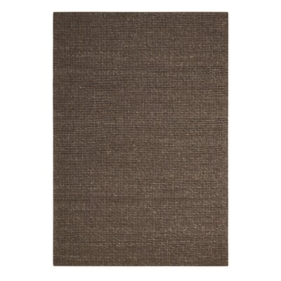 Abymes Quadrant Hand-Woven Dark Brown Area Rug Rug Size: 53 x 75