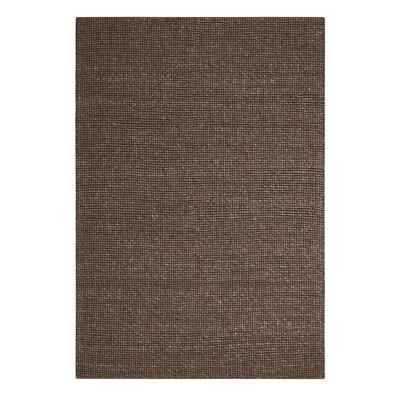 Abymes Quadrant Hand-Woven Dark Brown Area Rug Rug Size: 79 x 99