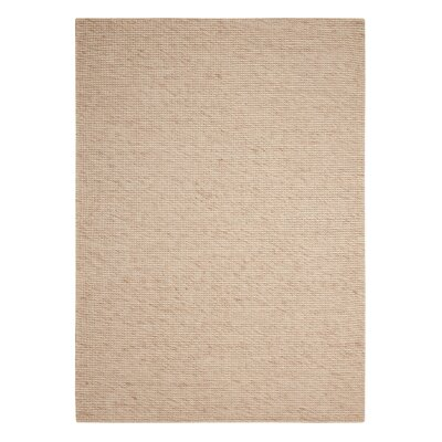 Abymes Quadrant Hand-Woven Beige Area Rug Rug Size: 53 x 75